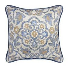 "Janine 18"" x 18"" Square Decorative Pillow"