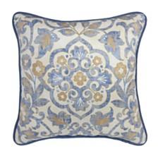 """Croscill Janine 18"""" x 18"""" Square Decorative Pillow"""