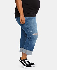 Motherhood Maternity Plus Size Cropped Jeans
