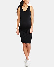 Maternity French Terry Ruched Dress