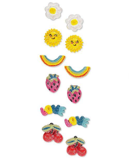 0e36b5557 Frozen On the Verge Little & Big Girls 6-Pk. Emoji Earrings. Macy's / Kids