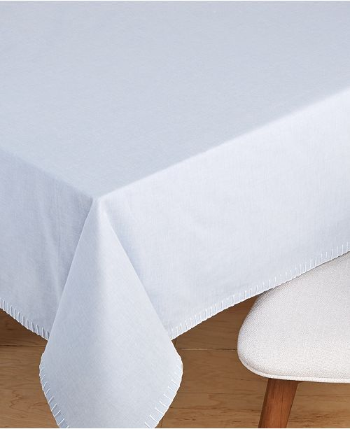 """Martha Stewart Collection Chambray 60"""" x 120"""" Tablecloth, Created for Macy's"""
