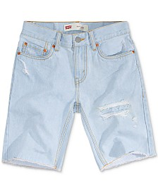 Levi's® Big Boys 511 Distressed Slim Denim Shorts