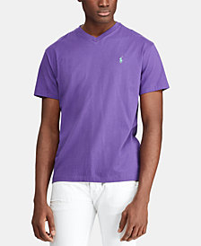 Polo Ralph Lauren Men's Big and Tall Classic-Fit V-Neck Short-Sleeve  Jersey T-Shirt