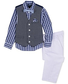 Nautica Little Boys 4-Pc. Braided Textured Vest Set