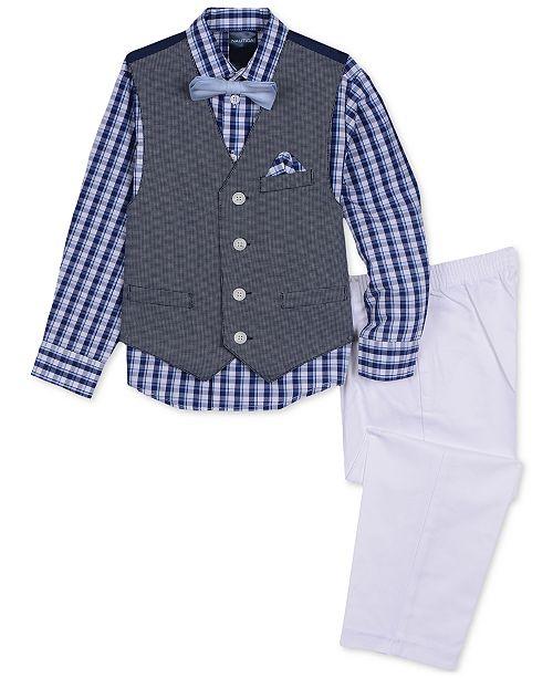 Nautica Little Boys 4-Pc. Braided Textured Vest Set