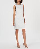 93f2b8e6dbe Donna Ricco Metallic-Jacquard Sheath Dress