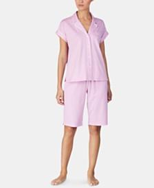 Lauren Ralph Lauren Cotton Top and Bermuda Shorts Pajama Set