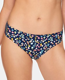 Vera Bradley Wildflower Ditsy & Wildflower Stripe Shannon Reversible Bikini Bottom