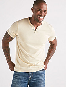 Lucky Brand Men's Venice Burnout Notch Tee