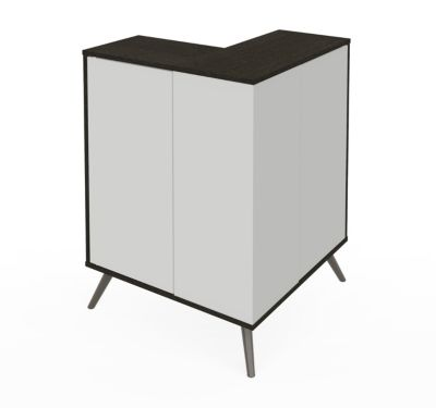 Small Space Krom Outer Corner Storage Unit
