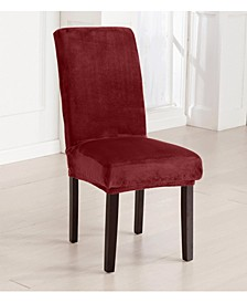 4-Pack Velvet Plush Solid Dining Room Chair Cover