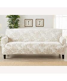 Velvet Plush Printed Form Fit Stretch Sofa Slipcover