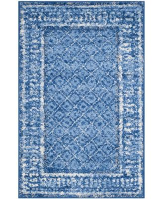 Adirondack Light Blue and Dark Blue 3' x 5' Area Rug