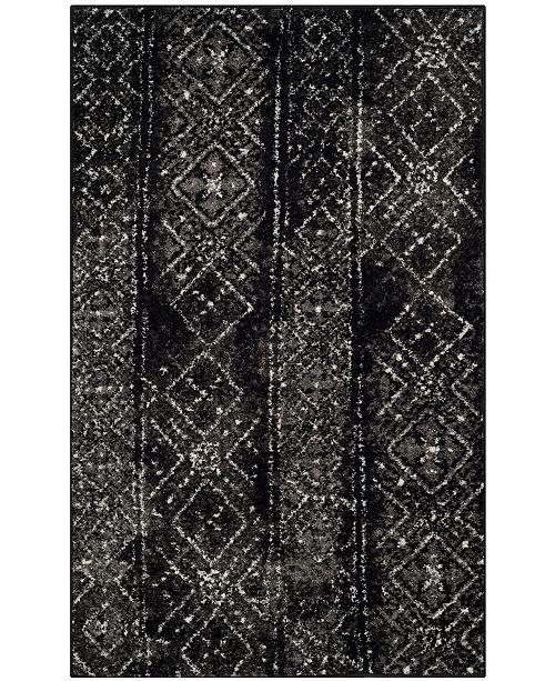 Safavieh Adirondack Black and Silver 3' x 5' Area Rug