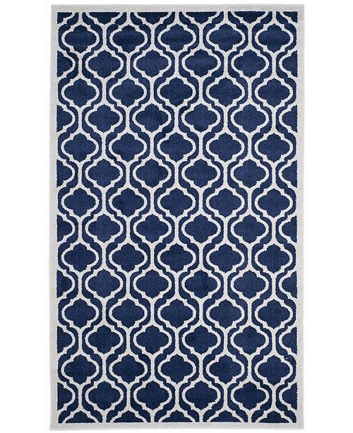 Safavieh Amherst Navy and Beige 4' x 6' Area Rug
