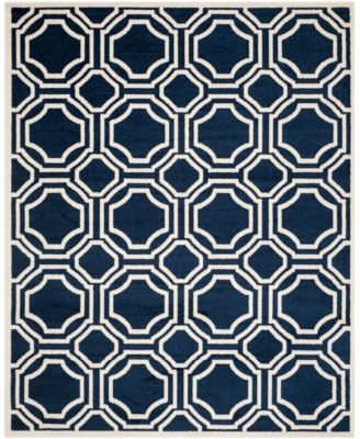 Amherst Navy and Ivory 11' x 16' Rectangle Area Rug