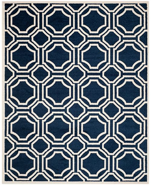 Safavieh Amherst Navy and Ivory 11' x 16' Rectangle Area Rug