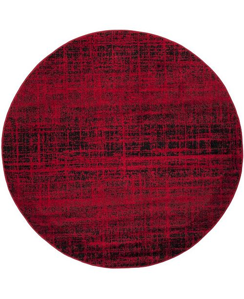 Safavieh Adirondack Red and Black 4' x 4' Round Area Rug