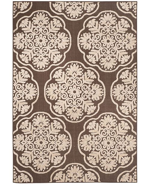 """Safavieh Cottage Brown and Beige 6'7"""" x 9'6"""" Area Rug"""