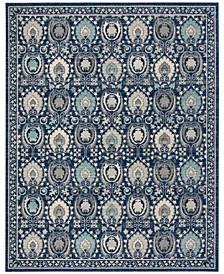 Evoke Blue and Ivory 11' x 15' Area Rug