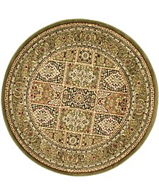 Lyndhurst Multi and Green 10' x 10' Round Area Rug