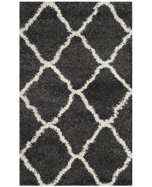 Safavieh Hudson Dark Gray and Ivory 3' x 5' Area Rug