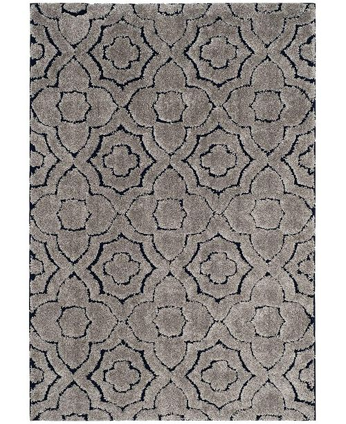 """Safavieh Memphis Taupe and Blue 5'1"""" x 7'6"""" Area Rug"""