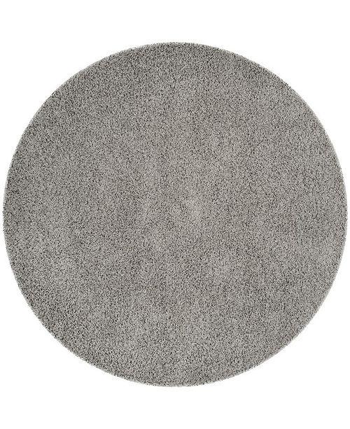 """Safavieh Athens Light Gray 6'7"""" x 6'7"""" Round Area Rug"""