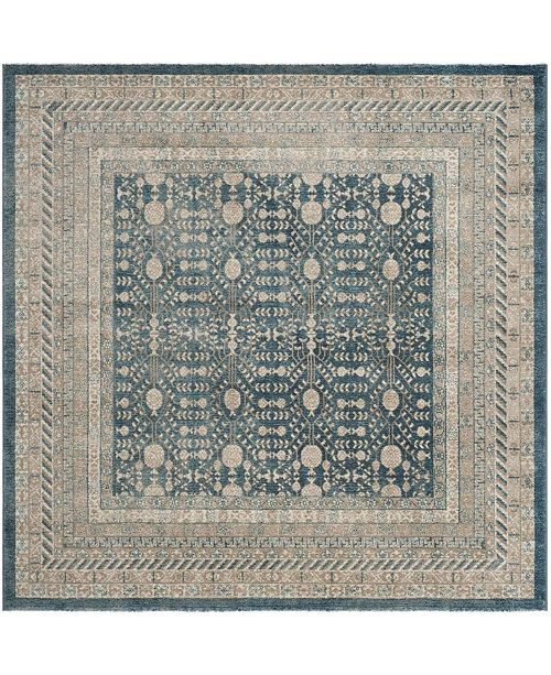 "Safavieh Sofia Blue and Beige 6'7"" x 6'7"" Square Area Rug"