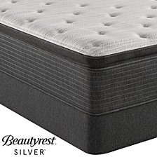 "Beautyrest Silver BRS900-TSS 14.75"" Luxury Firm Pillow Top Mattress Set - Queen with Adjustable Base, Created For Macy's"