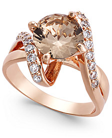 Charter Club Crystal Stone Bypass Ring, Created for Macy's