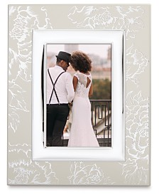 Lenox Silver Peony 4x6 Frame