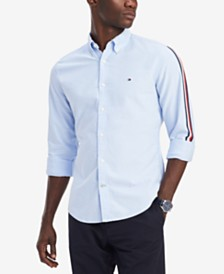 Tommy Hilfiger Men's Side Stripe Oxford Shirt, Created for Macy's