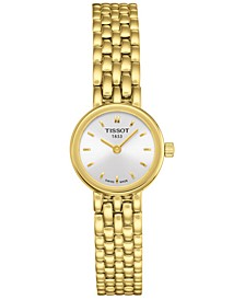 Women's Swiss T-Lady Lovely Gold-Tone PVD Stainless Steel Bracelet Watch 19.5mm
