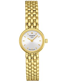 Tissot Women's Swiss T-Lady Lovely Gold-Tone PVD Stainless Steel Bracelet Watch 19.5mm