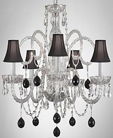 Empress Crystal 5-Light Chandelier with Shades and Crystal Balls