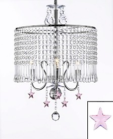 Empress 3-Light Chrome Crystal Chandelier with Crystal Stars
