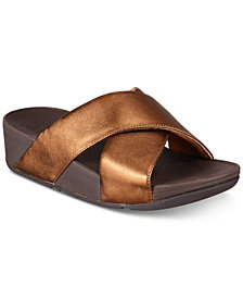 FitFlop Lulu Cross Slide Sandals