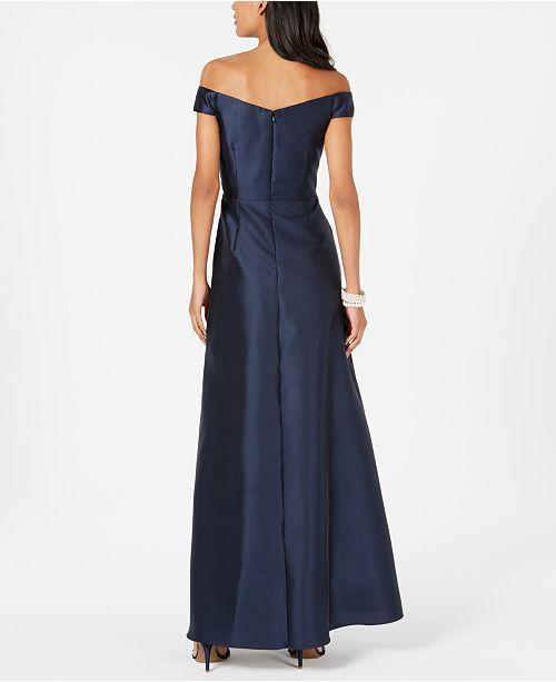 denudees epaules Robes femmes satin robes et minuit en pour Adrianna Robe Papell 2HI9WDE