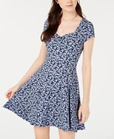 Be Bop Juniors' Princess-Seam Cinch-Front Fit & Flare Dress