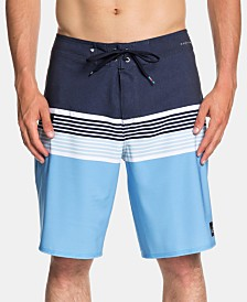 "Quiksilver Men's Highline Division Stretch Water-Repellent Colorblocked Stripe 20"" Board Shorts"