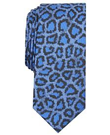I.N.C. Men's Jaguar Skin Skinny Tie, Created for Macy's