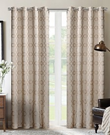 "Silk+Home Luxury Light Filtering Grommet Single Curtain 52""x84"""