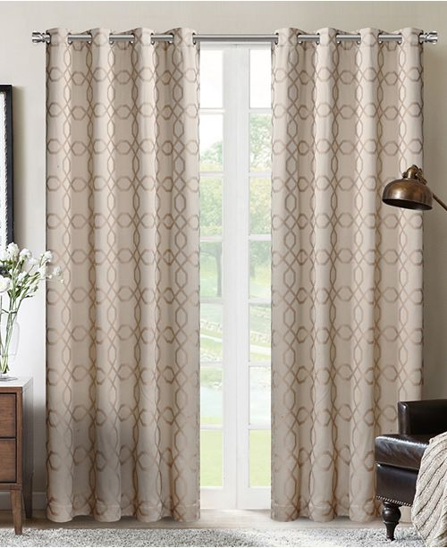 "Silk Home Living Silk+Home Luxury Light Filtering Grommet Single Curtain 52""x84"""