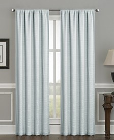 """Crescent Double Layer Total Blackout Rod Pocket Single Curtain Panel 50""""x84"""""""