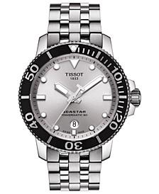 Men's Swiss Automatic T-Sport Seastar Stainless Steel Bracelet Watch 43mm