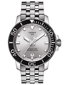 Tissot Men's Swiss Automatic T-Sport Seastar Stainless Steel Bracelet Watch 43mm