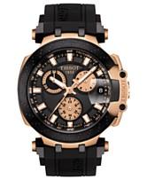 48fa10a08de0 Tissot Men s Swiss Chronograph T-Sport T-Race Black Silicone Strap Watch  47.6mm