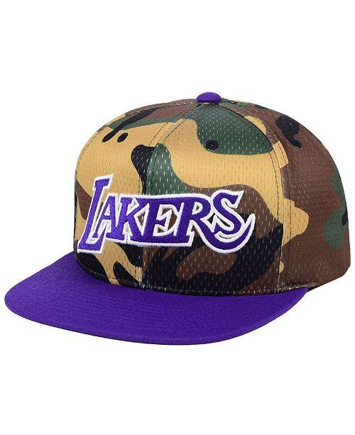 16cf1e0a59e ... Snapback Cap; Mitchell & Ness Los Angeles Lakers Woodland Camo Hook  Snapback ...